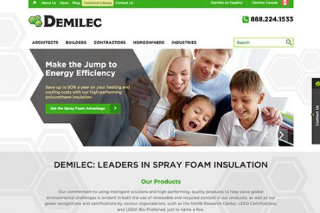 Demilec launches online resource to educate the industry and general public on effectiveness and efficiency of Spray Foam