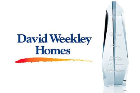 "Rinnai honored with David Weekley Homes' ""Partners Of Choice"" Award for 4th consecutive year"