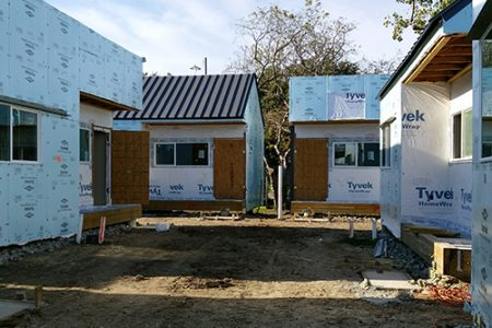 New homeless housing village in Dallas improves sustainability and energy-efficiency with Demilec spray foam insulation