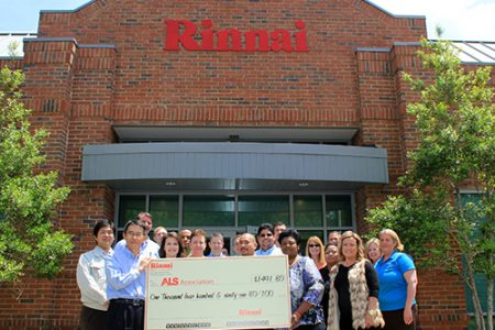 Rinnai America employees raise funds for ALS chapter (The Wholesaler)