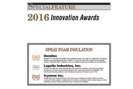 Our Team Earns 2016 Gold Innovation Award for Sealection 500 and Heatlok XT (Demilec Blog)