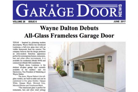 Wayne Dalton Debuts All-Glass Frameless Garage Door (The Garage Door News)