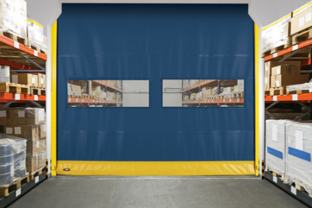 Overhead Door launches new RapidFlex Model 990 flexible bottom high speed fabric interior door