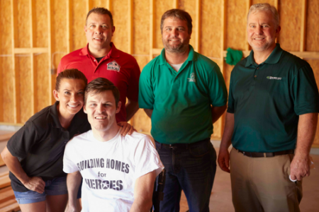 Demilec Collaborates With Building Homes for Heroes to Create Dream House for Purple Heart Veteran