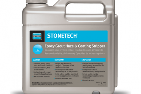 LATICRETE® STONETECH® Epoxy Grout Haze & Coating Stripper Solves Residue Issues in 10 Minutes or Less